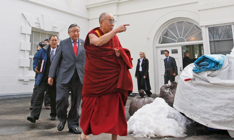 Dalai Lama appears at right-wing US think tank