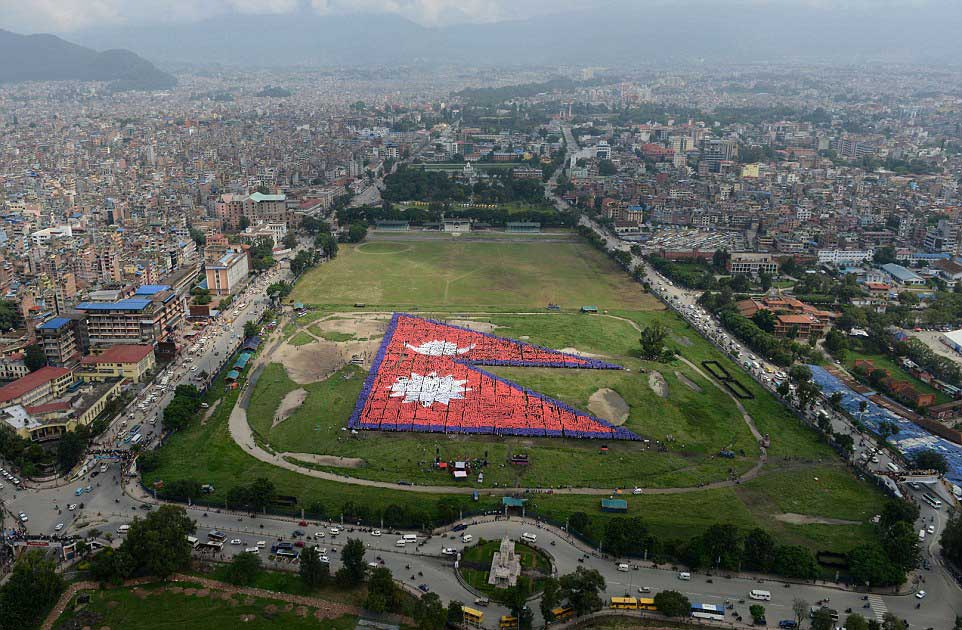 Making the Largest Human Flag – Nepal
