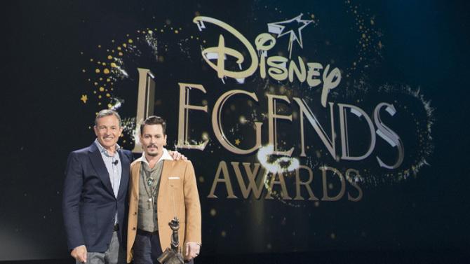 Johnny Depp awarded Disney Legend award
