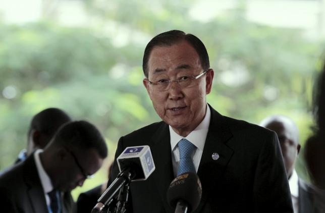 UNSG Ban stresses on dialogue, non violence in Nepal