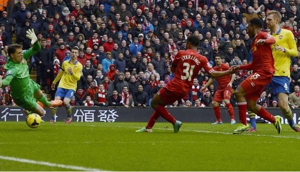 Liverpool beat Emphatically to Arsenal