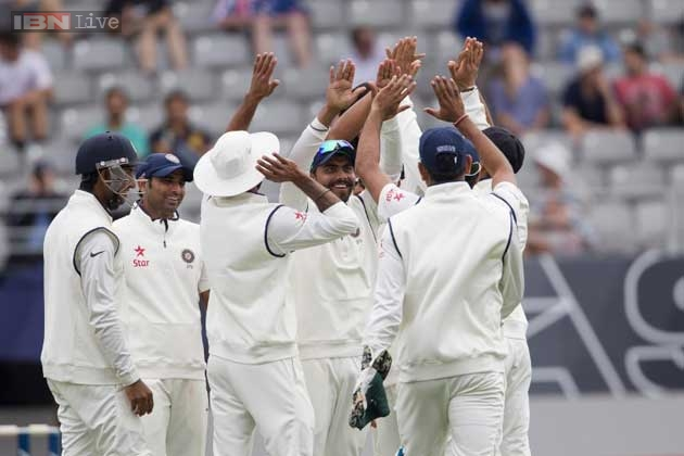 New Zealand 179-3 at tea on Day 1 vs India
