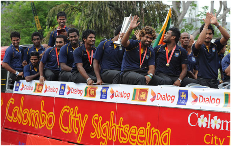 Sri Lankan team returns home to celebrate ICC World Twenty20 victory