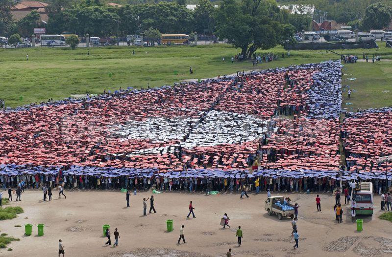 largest-human-flag-Nepal-2