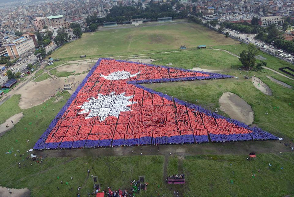 largest-human-flag-Nepal-5