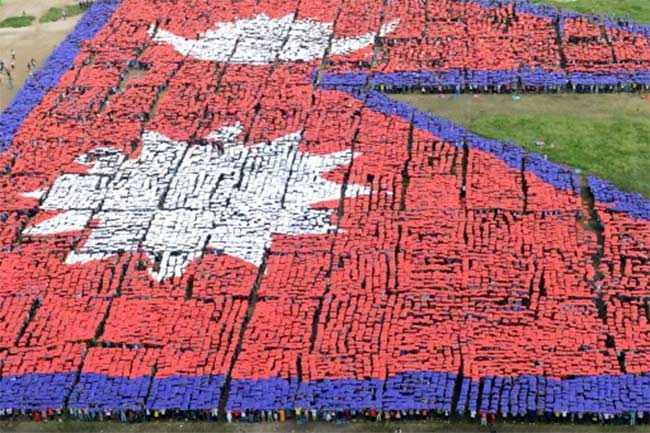largest-human-flag-Nepal-7