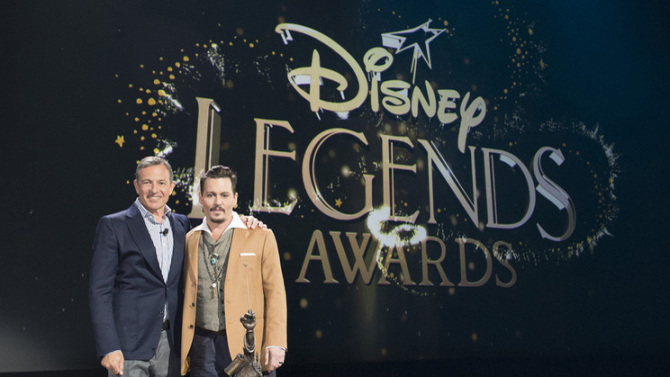Johnny Depp awarded Disney Legend award